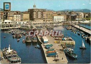 Moderne Karte San Sebastian Vue Generale du Port
