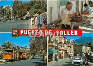 Moderne Karte Mallorca port de sollers dives aspects Train Tramway