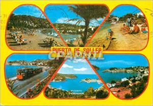 Moderne Karte Mallorca port de sollers Train Tramway