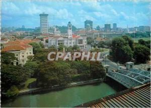 Moderne Karte Singapore An overhead view of Singapore