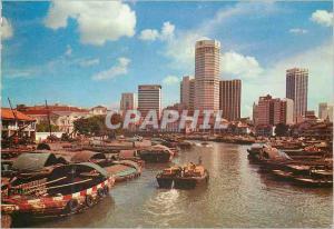 Moderne Karte Singapore The Singapore River