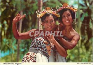 Moderne Karte Singapore Malay Dancers