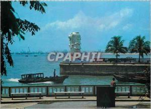 Moderne Karte Singapore The Merlion