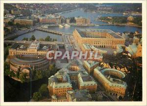 Moderne Karte Stockholm La vieille ville avec le Chateau Royal