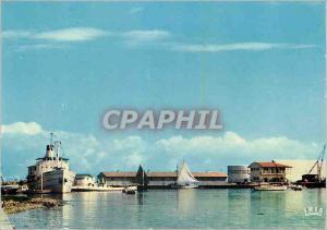 Moderne Karte Haiti Cap Haitien vue sur le port Bateau