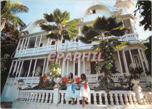 Moderne Karte Haiti Port-au-Prince Gingerbread house of Mr Lawrence Peabody