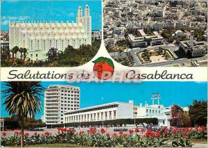 Moderne Karte Casablanca salutation