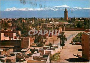 Moderne Karte Marrakech Koutoubia et Grand Atlas