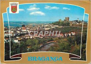 Moderne Karte Portugal Braganca Castelo dos Duques de Braganca e muralhas