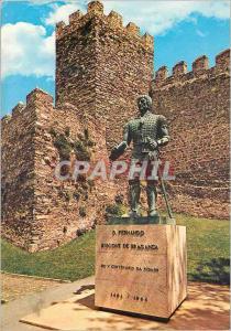 Moderne Karte Portugal Braganca Statue de D Fernando