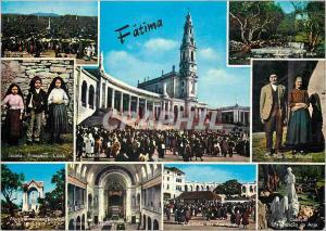 Moderne Karte Portugal Fatima Souvenir