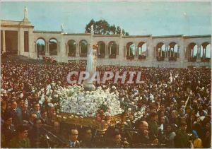 Moderne Karte Portugal Fatima Procession avec Notre Dame avant La Messe
