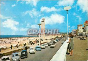 Moderne Karte Portugal Figueira da Foz Vue partielle de la plage