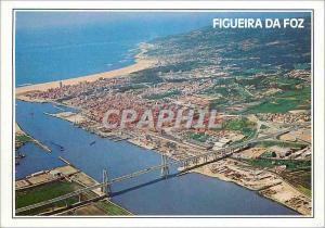 Moderne Karte Portugal Figueira da Foz Vue aerienne