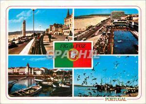 Moderne Karte Portugal Figueira da Foz Aspectos da cidade
