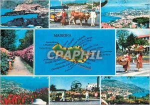 Moderne Karte Madeira les meilleures vues de madere