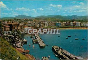 Moderne Karte San sebastian 74 vue generale du port