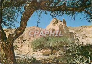 Moderne Karte Zohar Citadel Ruines van een vesting in Nachal Zohar in de woestijn van Judea