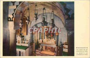 Moderne Karte Nazareth La Grotte de l'annonciation