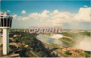 Moderne Karte Canada Ontario Niagara Falls La Tour Minolta surveille les Chutes Niagara