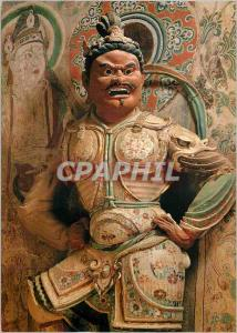 Moderne Karte China Painted Clay Sculpture Heavenly King