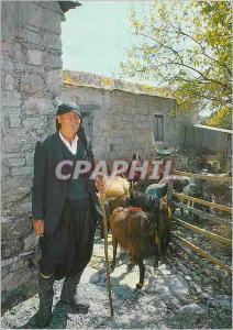 Moderne Karte Cyprus Une Bergere Chevre