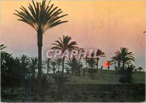 Moderne Karte Tunisie Coucher du Soleil