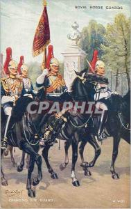 Moderne Karte Royal House Guards Changing the guard Militaria Militaria