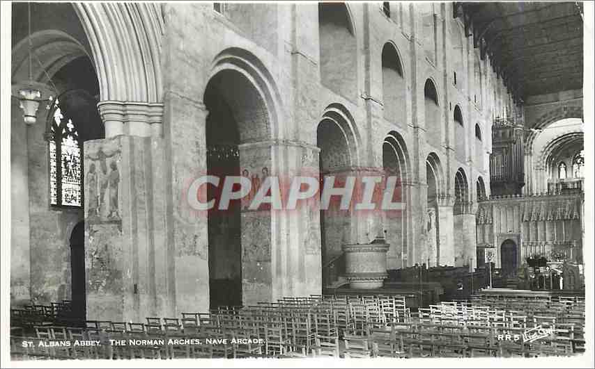 Moderne Karte St Albans Abbey The Norman Arches Nave Arcade 0