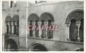 Moderne Karte St Albans Abbey Saxon columns South transepts