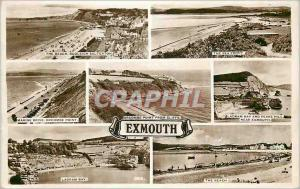 Moderne Karte The Beach Budleigh Salterton The sea front Marine Drive Orcombe Point Ladram Bay and Peake Hill