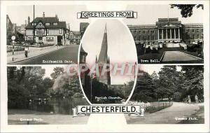 Moderne Karte Greetings from Chesterfield