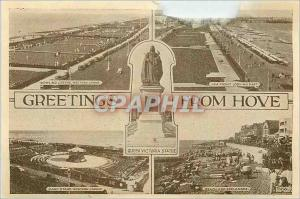 Moderne Karte Greetings from Hove Queen Victoria Statue