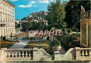 Moderne Karte The City of Mozart Salzburg the Mirabell Garden With the Cathedral and the Fortress