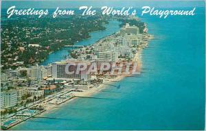 Moderne Karte Miami Beach Florida a Dream come true Greetings from the World's Playground