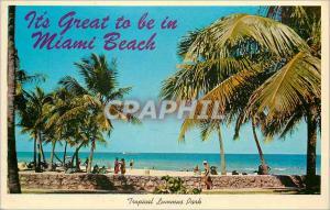 Moderne Karte The Golden Sands of Miami Beach Florida