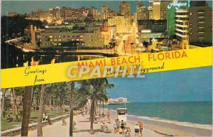 Moderne Karte Miami Beach Florida World's Playground