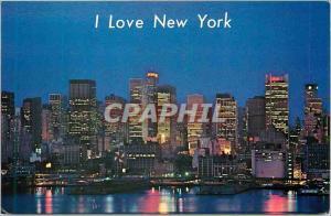 Moderne Karte Mid Manhattan Skyline New York City