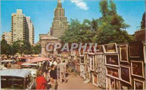 Moderne Karte Outdoor Art Gallery at Greenwich Village Showing Washington Arch and one Fifth Avenue Hotel New