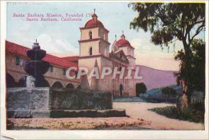 Moderne Karte San Barbara Mission California Entrance to Smiley Heights Redlands California