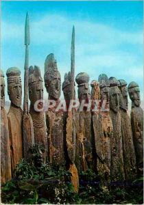 Moderne Karte Sculptured Wooden Tombstones Gemu Gofa Province