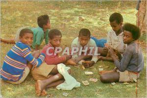 Moderne Karte Fnfants D'Ethiopie Jouant aux Cartes Ces Visages Ouverts Sur L'avenir Espoir d'un Peuple