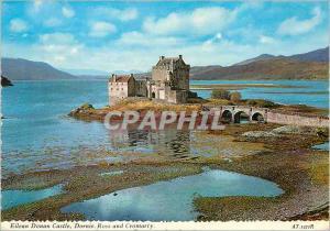 Moderne Karte Eilean Donan Castle Dornie Ross and Cromarly