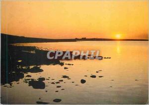 Moderne Karte Sunset Over the Loch