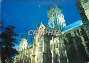 Moderne Karte Canterbury The Cathedral Church of Christ Floodlit