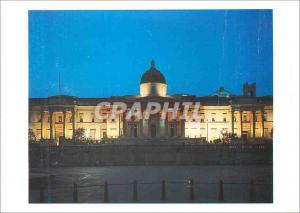 Moderne Karte The National Gallery from Trafalgar Square View by Night