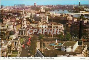 Moderne Karte Bird's Eye View of London Showing Trafalgar Square and the National Gallery