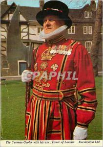 Moderne Karte The Yeoman Gaoler With his axe Tower of London