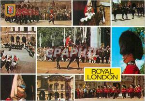 Moderne Karte Royal London Her Majesy Queen Elizabeth II Different View of The Queen's Guards
