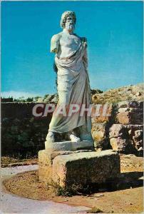 Moderne Karte Ampurias (Costa Brava) Statue d'Esculape